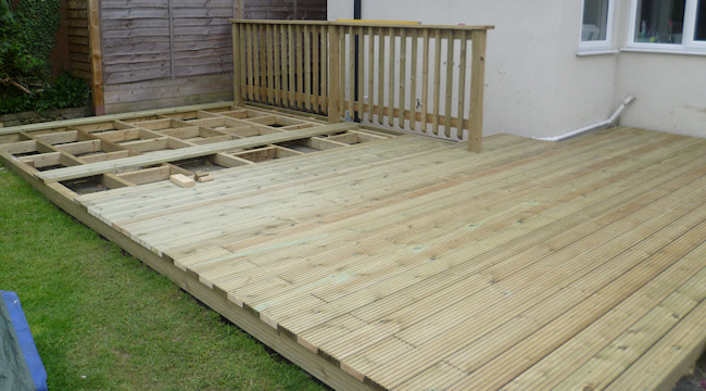 Dgs landscapes garden maintenance landscaping services for Garden decking lights uk